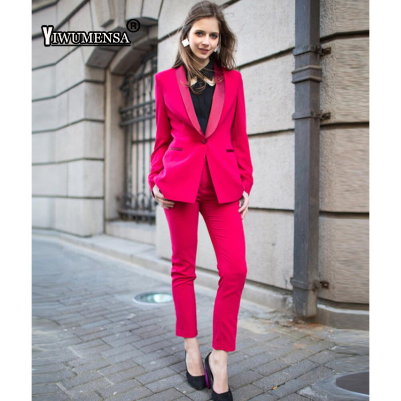 newest style buy best best shoes US $79.89 42% OFF yiwumensa Latest Coat Pant Designs Beige/Pink women suits  office sets Custom made Women Suits with Pants Formal Business Suits-in ...