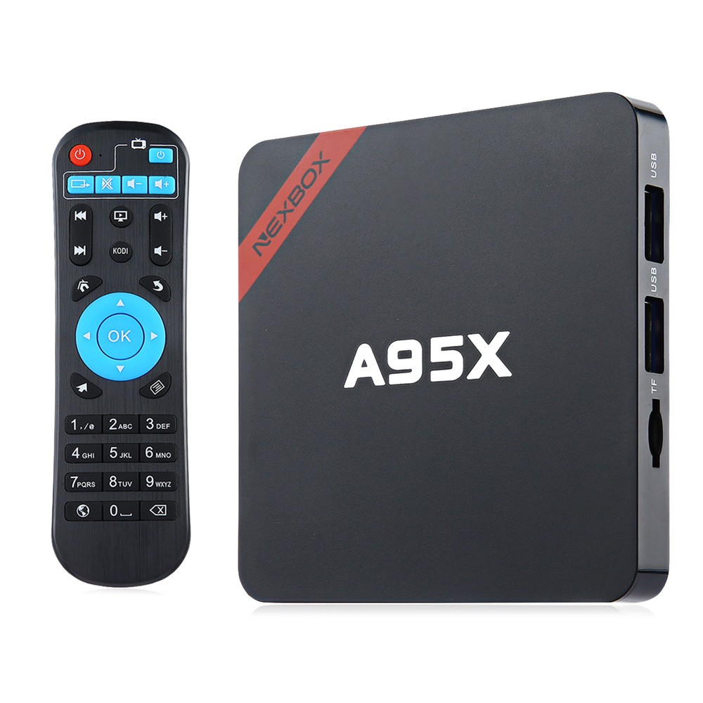 NEXBOX A95X Smart TV Box Android 5.1 Amlogic S905 Quad core Box Kodi 16.1 4K Set-top Box 1G 8G WiFi Streaming Media Player mx plus ii android tv box quad core amlogic s905 1g 8g rom smart tv box led display kodi 14 2 full loaded airplay apk