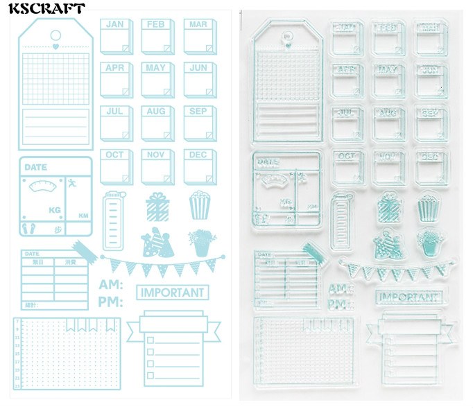 KSCRAFT Lovely Labels Transparent Clear Silicone Stamp/Seal for DIY scrapbooking/photo album Decorative clear stamp sheets kscraft love travelling transparent clear silicone stamp seal for diy scrapbooking photo album decorative clear stamp sheets