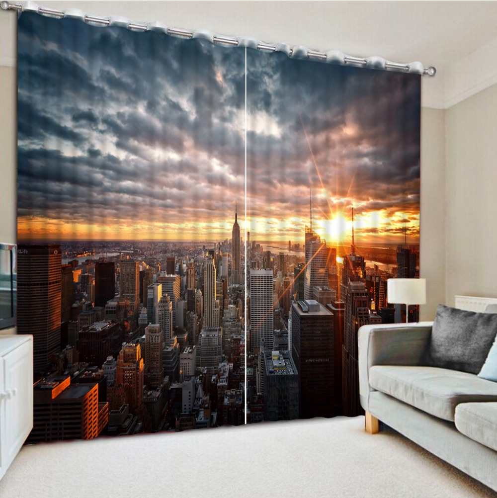 Custom any size home ddecorative home decor 3d curtains for Household design curtain road
