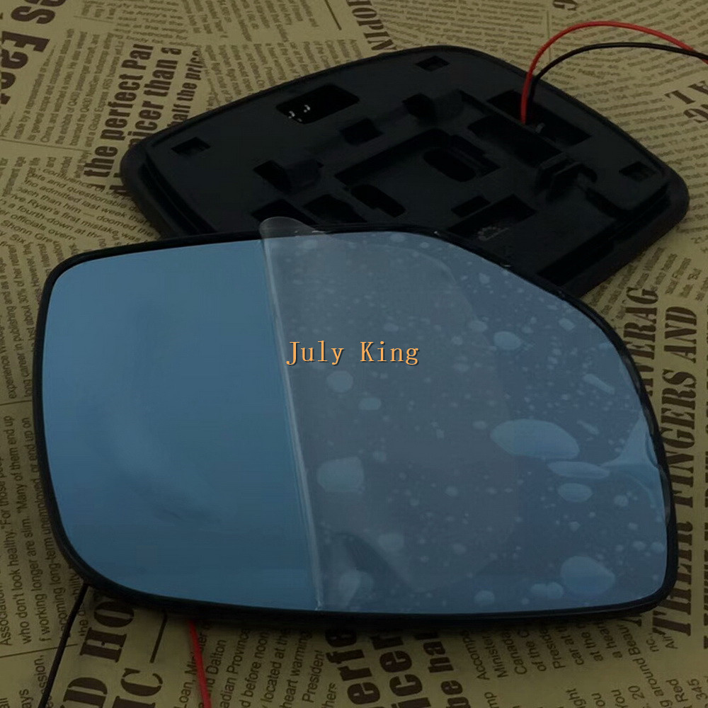 Varthion Rearview Mirror Lens Case for Subaru Forester 2013-17, Large Field Of Vision, Blue Mirror, Turn Signals, Heat Demisting for great wall voleex c30 2013 side mirror rearview mirror assembly exterior mirrors 5 wire blue lens