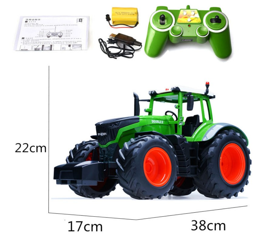 RC Truck Farm Tractor 2.4G Remote Control Trailer Dump/Rake 4 Wheel Tractor Engineer Vehicle Tractor Model Children Toys Hobby witch s vacuum cleaner and other stories