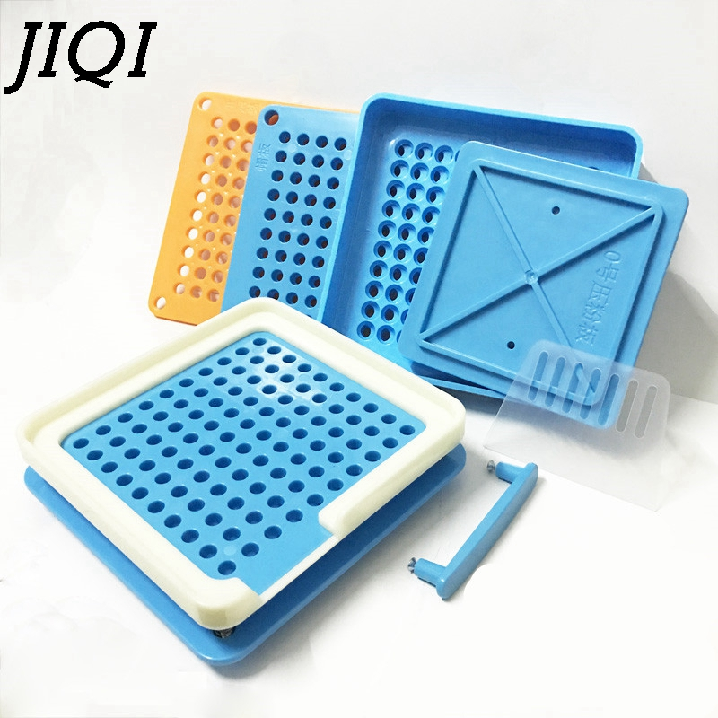JIQI 100 Holes Manual Capsule Filling Machine #0 Pharmaceutical Capsules Maker DIY medicine Herbal pill powder Filler Size 0