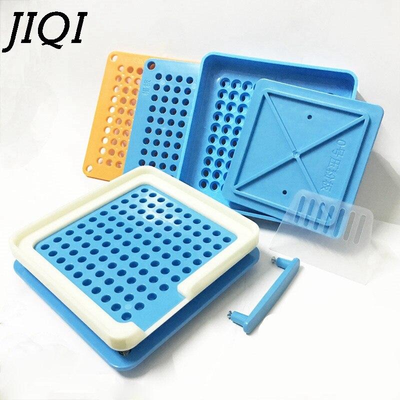 JIQI 100 Holes Manual Capsule Filling Machine 0 Pharmaceutical Capsules Maker DIY Medicine Herbal Pill Powder