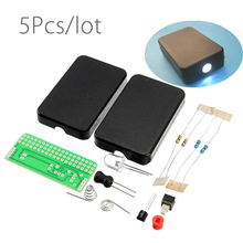 5Pcs/lot DIY FLA 1 Simple Flashlight Circuit Board Electronic Kit DIY Parts Kit
