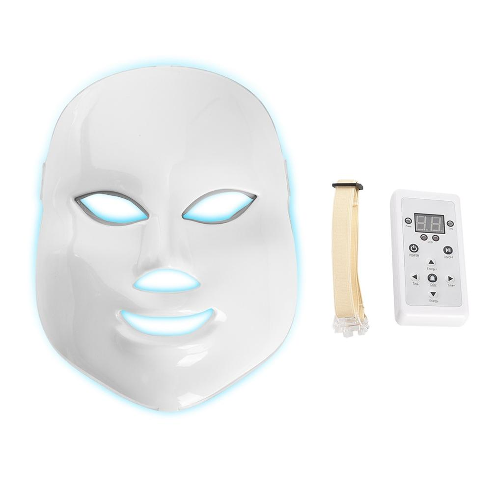 LED Facial Mask Therapy 7 colors Light Photon Face Skin Care Rejuvenation Wrinkle Acne Removal Face