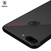 Baseus Solid color For Apple iPhone 7 Case For iPhone 7 Plus Case 0.75mm Slim Soft TPU Back Full Protective Cover Case For 7plus