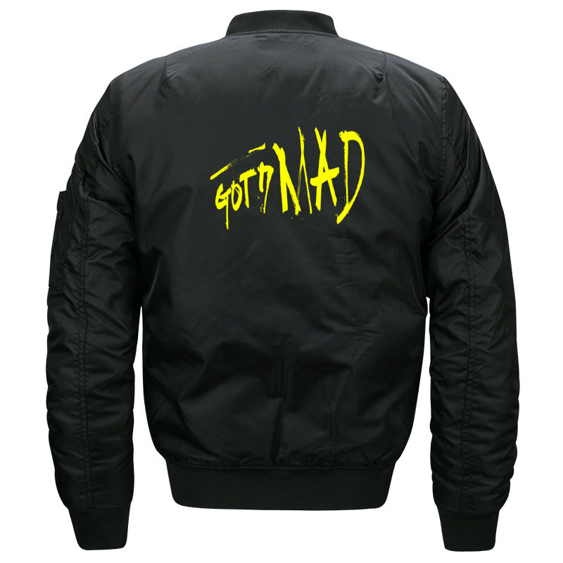 Kawaii Kpop Band GOT7 Mad Quilted Bomber   Jacket   for Women and Men Cute Female Korean Band Got 7   Basic     Jacket   Oversized S-5XL