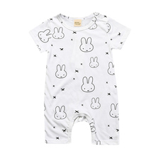 Babies Short-Sleeved Cotton Romper
