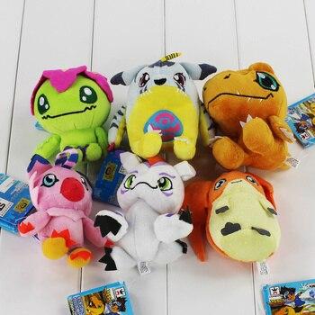 Superventas, 6 tipos, Digimon, Patamon de felpa, Agumon, Yagami, Taichi, colgante, llaveros de juguete, regalos encantadores