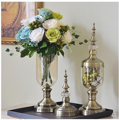 Ev ve Bahçe'ten Vazolar'de Avrupa tarzı oturma odası masası süslemeleri, modern yaratıcı şeffaf vazolar, high end ev dekorasy'da  Grup 1