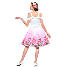 1950s Style Floral Vintage Dress