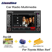 Liandlee For Toyota Hilux Surf 2002~2009 2 din Car Android GPS Navi Navigation Maps Radio CD DVD Player Audio Video Stereo OBD2