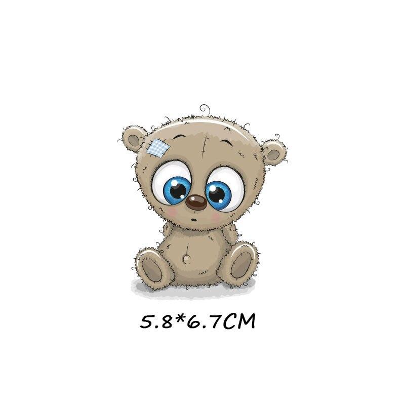 Милые маленькие животные Единорог Сова собака кошка патч для одежды стикер для детей мальчик девочка DIY патчи Футболка теплопередача Винил - Цвет: zt1094