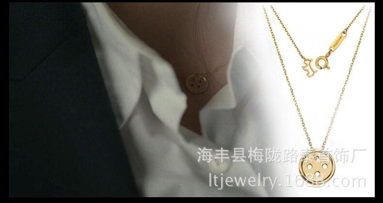 10 pcs/lot nouveauté boutons pendentif 925 argent collier fermoir boutons colliers bijoux,