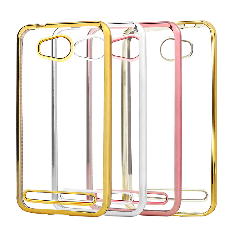Galleria fotografica Plating Phone Case For Huawei Y3 II 2 2rd Gen Cover Silicone Ultra Thin Soft Transparent TPU Back Cover For Huawei Y3 II Luxury