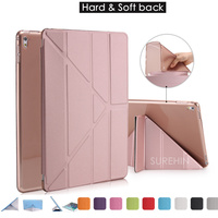 Good Hard Flexible Tpu Silicone Soft Back Leather Smart Cover For Apple Ipad Pro 9 7