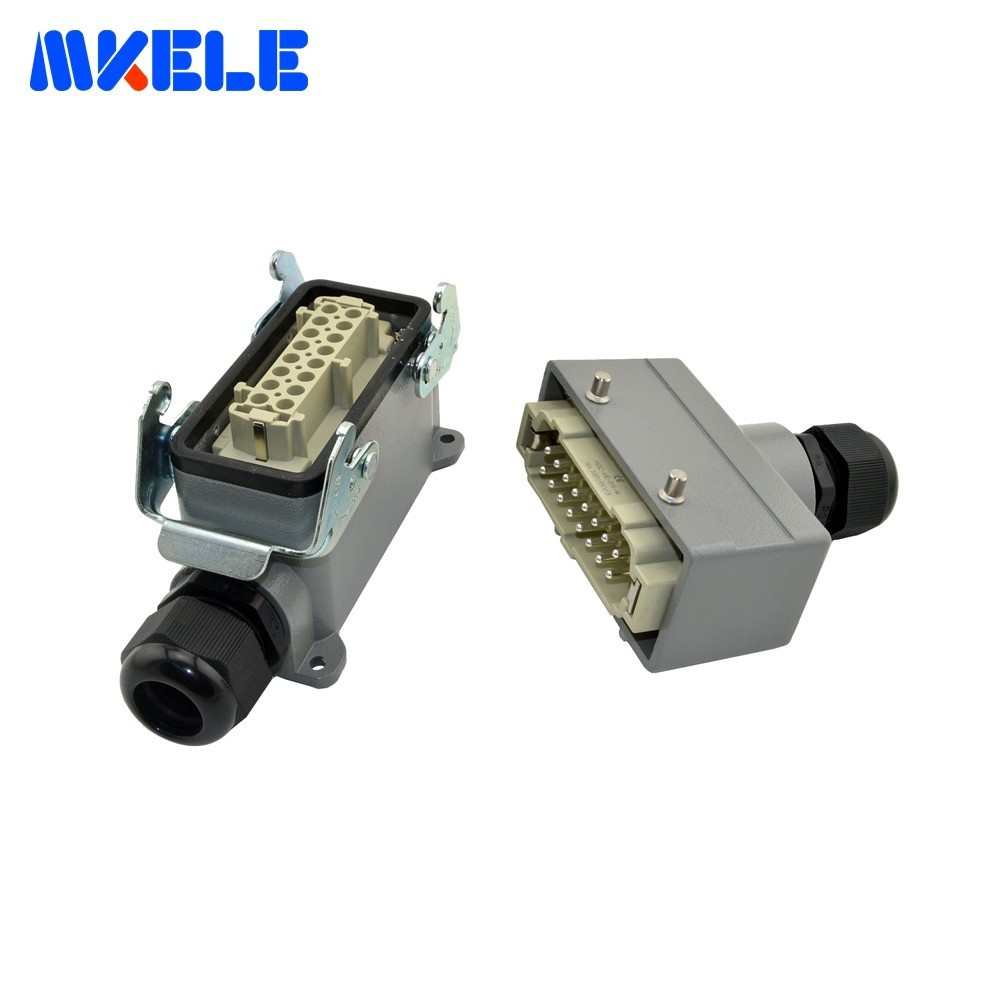 MK-HE-016-4 Plastic Screw Industrial Heavy Duty 400 Volt Wire Connector Harting Heavy Duty Connector Aviation Plug Socket
