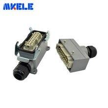 Connector Harting Screw Aviation-Plug-Socket Industrial Plastic MK-HE-016-4 400-Volt