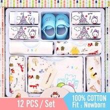 Комплект одежды для девочек из 12 предметов, штаны одежда для малышей шляпа нагрудник ropa de bebe набор для новорожденных мальчиков костюм из хлопка