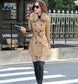 2017 Азиатский Стиль Зима новый женский длинный кожаный пальто куртки женской моды меховой воротник толщиной плюс хлопок тонкий Ветровка Z967