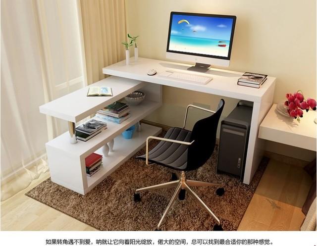 Mesa barato giratoria de escritorio minimalista esquina for Escritorios para oficina en casa