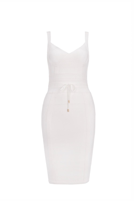 2017 Neue Sexy Frauen Mode Weiß Ingwer Verband Kleider Party Großhandel Dropshipping Kleid + Anzug