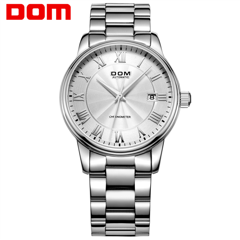Men Watch DOM Brand Top Luxury Waterproof Mechanical Watches Stainless Steel Sapphire Crystal Automatic Date Clock M8040D7M2 men luxury automatic mechanical watch fashion calendar waterproof watches men top brand stainless steel wristwatches clock gift