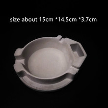 Creative Big Concrete Silicone Ashtray Mold for Home Decorating 3D Clay Craft Cement Mould