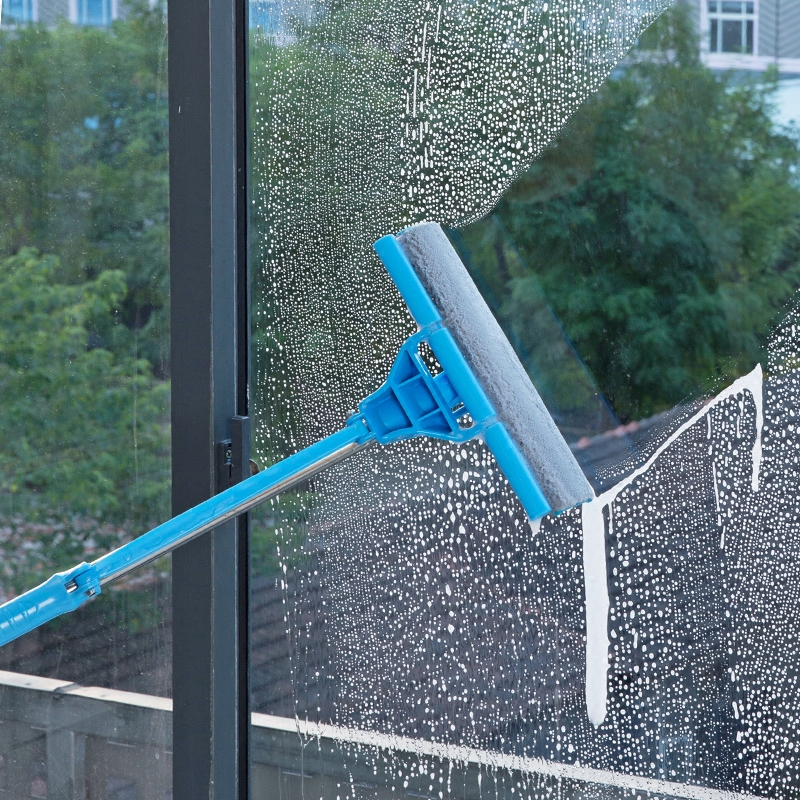 Telescopic rods double - sided window cleaning tools household windows windows tools high - rise glass wipers cleaning glass