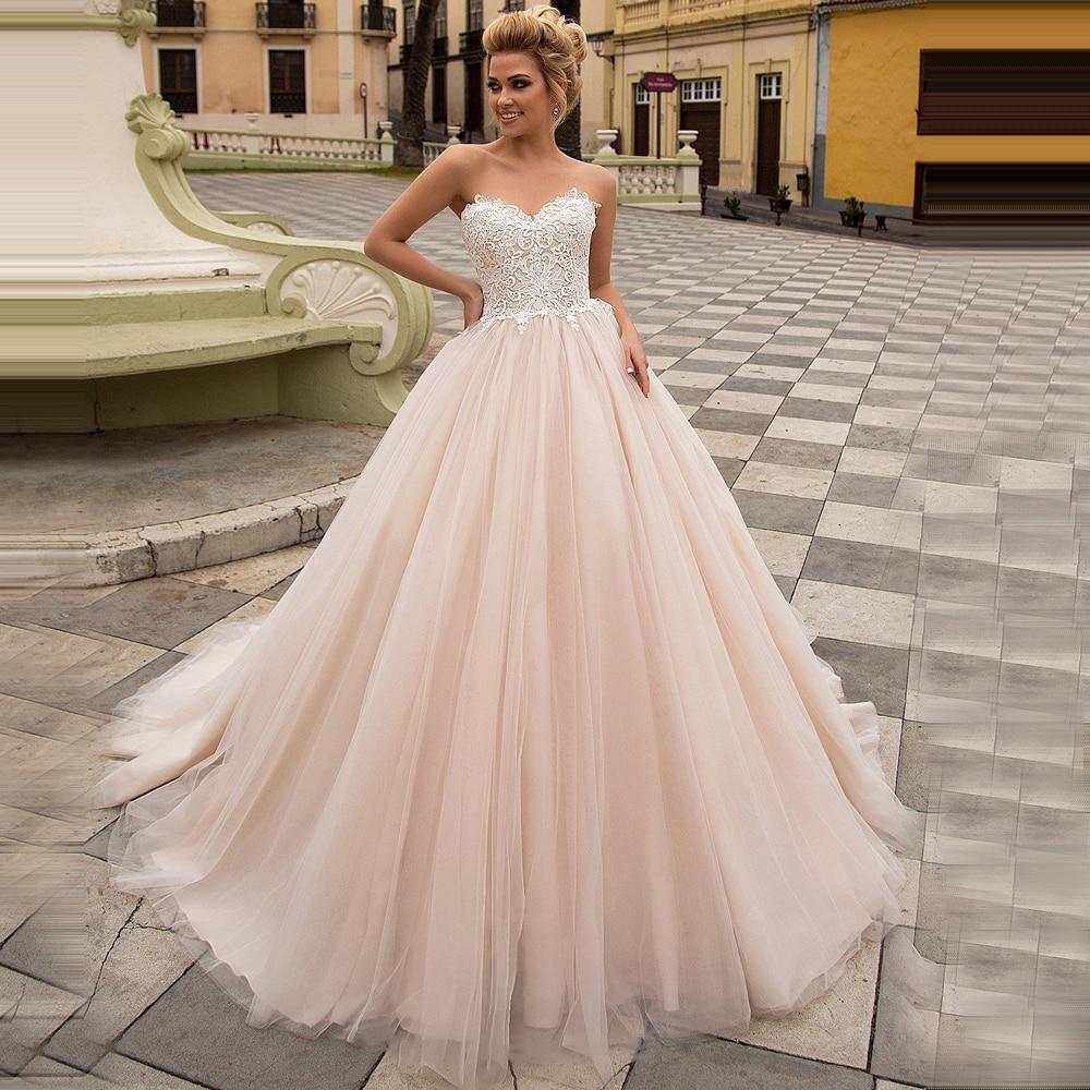 Immagini Abiti Da Sposa.Adln Elegant Champagne Wedding Dresses Abito Da Sposa Sweetheart