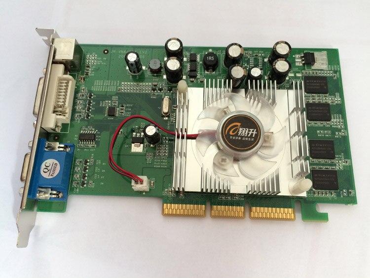 Nouveau Support de carte vidéo nVIDIA GeForce 6200 128 mo 64BIT DDR2 VGA/DVI AGP 4X 8X