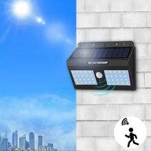 Светодиодный уличный фонарь на солнечной батарее датчик движения Открытый водонепроницаемый садовый светильник 1200 мАч перезаряжаемая батарея Ночная аварийная уличный светильник s