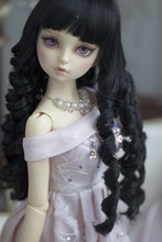 BJD doll wigs black loose wave curly hairs available for 1/3 1/4 1/6 BJD DD SD doll accessories girl toys sudoll 1 6 bjd doll bjd sd baby girl toy free shipping