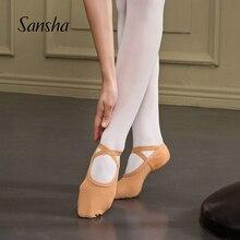 Sansha chaussures de Ballet adulte 4 way Stretch Mesh 3 Split sole Design filles femmes hommes chaussons de Ballet rose/noir chaussures de danse NO.357M