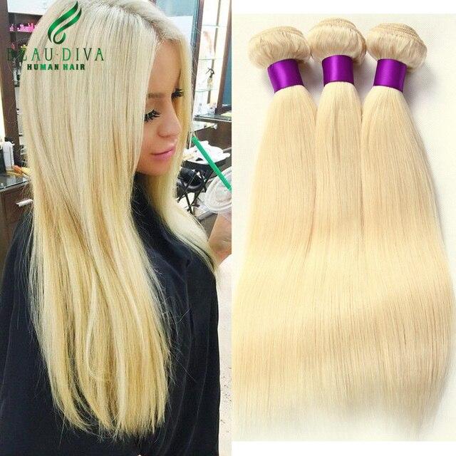 Блондинка Бразильский Виргинский Волосы Прямые 3 Пучки 613 Бразильские Прямые Светлые Волосы 7А Бразильский Weave Волос Девственницы Прямых Волос