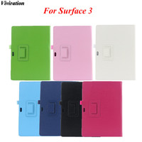 Viviration High Quality Business Solid Litchi Grain Folio Flip Stand PU Tablet PC Case Cover 10