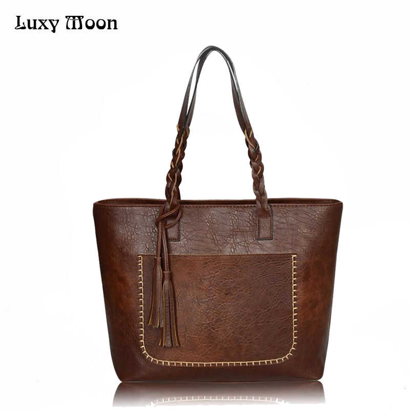 1a1433c48af7 Luxy Moon Fashion Women Shoulder Bags Pu Leather Women s Handbag Vintage  Tassel Bolsas Mujer Chic Shopping