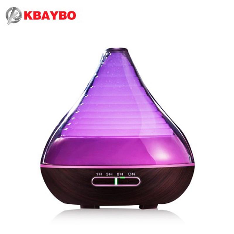 ФОТО 300ml Aroma Essential Oil Air Diffuser Wood Grain Cool Mist Ultrasonic Humidifier for Office Home Bedroom Living Room Yoga Spa