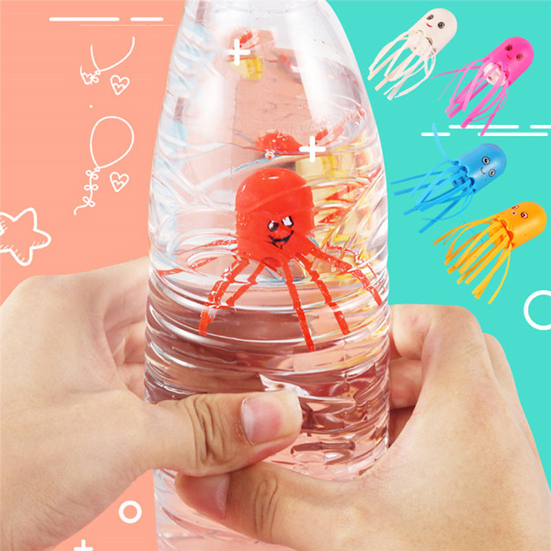 1PC Magic Jellyfish Elves Toys Children Magic Obedient Octopus Novelty Toys Floating Up And Down Spit Bubbles Jellyfish Gifts
