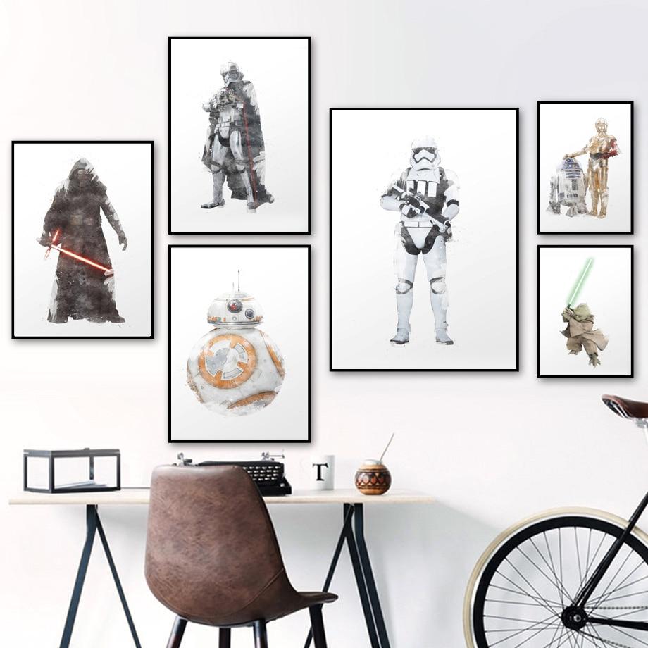 Luke Skywalker Star Wars Wall Art Watercolor Poster Dorm Wall Decor UNFRAMED