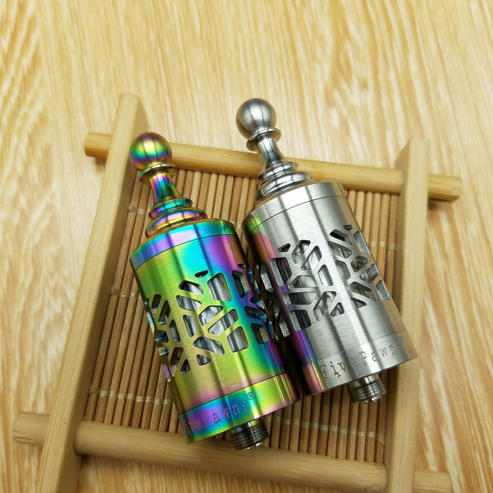 CYAN Kayfun Five Pawns RDA Atomizer Kayfun Lite Plus Five Pawns Vs Kayfun V4 V5 E Cigarette Vape Mod Vs Taifun GT