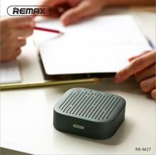 REMAX-M27 Portable Mini Bluetooth 4.2 Speaker 1200mAh Metal Stereo Music Bass HD Sound 5W Wireless AUX Outdoor