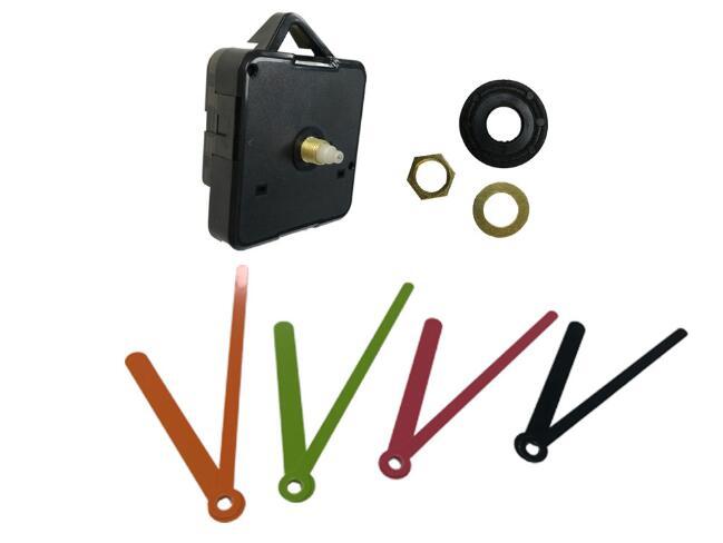 1 Set Silent Clock Colorful Hands Quartz Wall Clock Mechanism Movement Repair Replacement Parts Clockwork Clock Parts 18mm Shaft