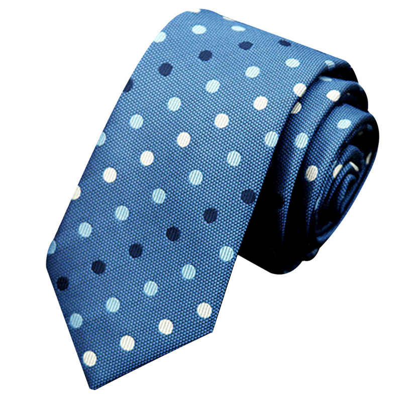 Mans Accessories Classic Neck Tie Business Casual Knitted Neckties Dot Blue Navy South Korean Silk Length 145CM/57.08 The New