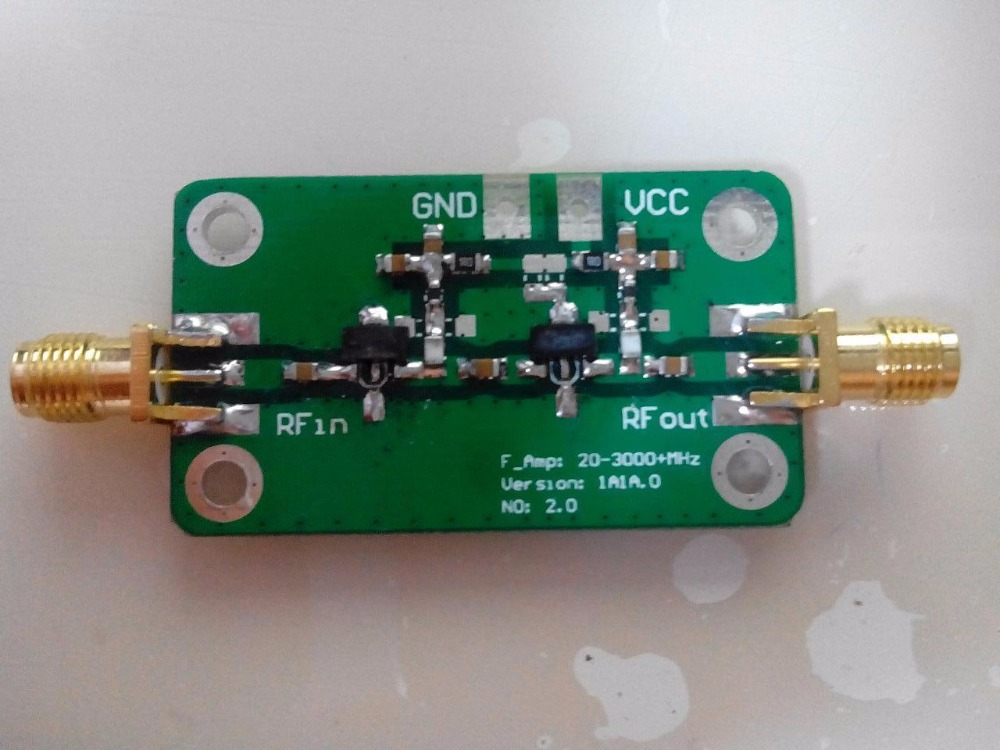 NEW 20-3500MHz RF wideband low-noise amplifier amplifier LNA 35dB 100mw
