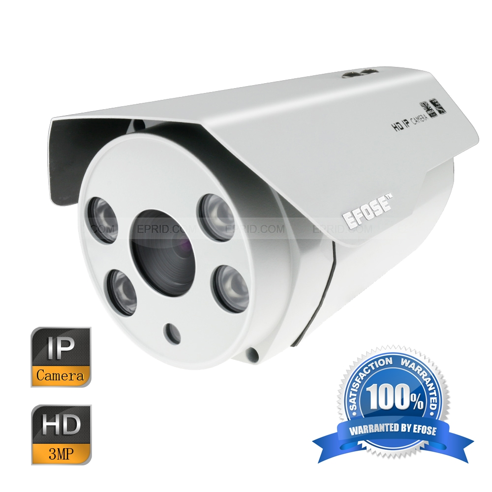 EFOSE FO-3IB331-N 3MP Full HD Network IR Bullet Camera 1/3 CMOS Outdoor HD 1080P 4PCS Array IR