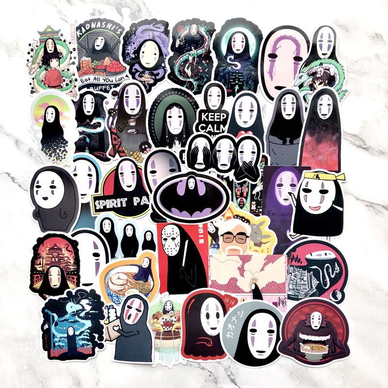 Kaonashi No-Face Sticker pack of 5