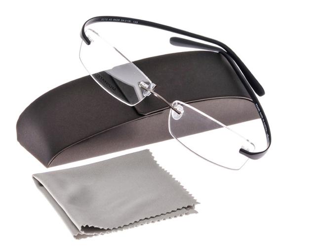 Marca sin montura ultraligero titanium marco tr90 súper elástico de pierna anteojos hombres mujeres miopía gafas enmarcan gafas de grau