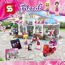 SY579 Dessert House Coffee Shop Stephanie Naomi Minifigure Building Blocks Bricks Kits girls friends toys for kids christmas